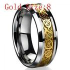 Wedding Men Women Dragon Jewelry Tungsten Carbide Band Ring