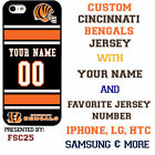 Cincinnati Bengals NFL Phone Case Cover for Samsung s7 s7 edge s6 Note 5 etc