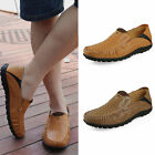 Mens Leather Casual Slip On Loafers Comfort Driving Shoes Moccasin Boat Shoes