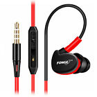 Fonge Waterproof Earphones In-Ear Sport W Mic For Smart Phone Laptop Tablet PC