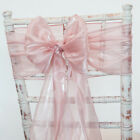 SILK ORGANZA CHAIR SASH HOOD AND TABLE RUNNER 15 COLOURS WEDDING CHAIRS EVENT