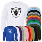 OAKLAND RAIDERS Mens Sweat NFL Sports Printed USA Football Sweater Top