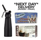 Liss 8G N2O NOS Nitrous Oxide Whipped Cream Chargers & Dispensers / Whippers