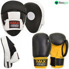 Kick Boxing Set Mesh Curved Gym Training Focus Pads MMA Punch Bag Gloves UFC Pro
