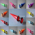 Fake Stretchers / Plugs / Earrings / Cheater Tapers 8 Neon Colours available