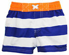 iXtreme Little Boys' Bold Stripe and Sew Swim Trunk Rashguard Short
