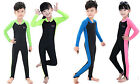 One-Piece Girls Boys Long Sleeve Swimsuit Sun Protection Swimwear