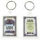 "NOVELTY NAME KEYRING PRINTED BOTH SIDES WITH ORIGIN & MEANING, LETTER ""I"" UK NEW"