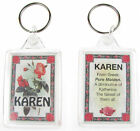 "NOVELTY NAME KEYRING PRINTED BOTH SIDES WITH ORIGIN & MEANING, LETTER ""K"" UK NEW"