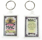 "NOVELTY NAME KEYRING PRINTED BOTH SIDES WITH ORIGIN & MEANING, LETTER ""M"" UK NEW"