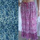 Boho Floral Skirt NEW 100% COTTON Stretchy Onesize Womens 10 12 14 16 Easy Fit