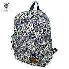 HALFMOON TRIBE Casual Canvas Print Design Student Travelling Trip Backpack