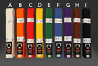 K.O Martial Arts Karate Taekwondo Plain Coloured Belt -  Trade Pack (10)