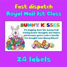 7designs BUNNY KISSES HAPPY EASTER EGG FUN TAILS POOP BAIT NOVELTY LABEL STICKER