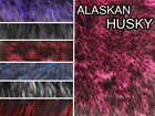 "Faux Fur Long Pile ALASKAN HUSKIES Fabrics / 60"" Wide / Sold by the yard"