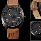 New Fashion Curren Men's Quartz Leather Military Army Analog Sports Wrist Watch