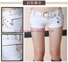 Hot Cool Sexy Women Jeans Mini Shorts Pants Trousers RivetS Zipper Hip Low Waist