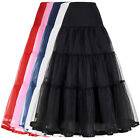 Vintage Tulle Petticoat Crinoline Long Underskirt For Bridal Wedding Dress Gown