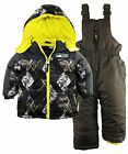 iXtreme Toddler Boys Diamond Fleece Lined Winter Puffer Jacket Snowsuit Ski Bib