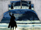 Cowboy on the horse 4 Piece bedding set   -5 sizes available