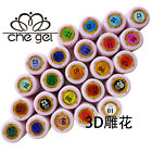 12 Colors CHE 3D Relief Gel UV LED Soak Off Nail Art Builder Manicure Gel Polish
