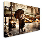 Love In The Rain New York Kiss Wall Picture Canvas Prints Art Cheap