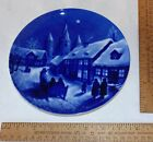 Royal BLUE WINTER CHINA - Midnight Mass at Kafundburg Church - Decorative PLATE