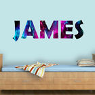Custom Name Wall Decal Galaxy Wall Art Personalized Name Space Room VWAQ-EGN4