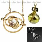Harry Potter Golden Snitch Watch Hermione Time Turner Hourglass Necklace
