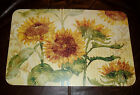 Sunflowers Placemats Counter Art Reflections of the Sun Reversible Rigid Vinyl