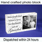 Personalised block with photo and message unique gift new hero