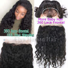 Pre Plucked 360 Lace Frontal Closure Virgin Human Hair Wave Straight Closures