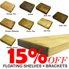 Rustic Floating Shelf / Shelves Chunky Wood Handmade Wood Wooden Brackets 4.2cm