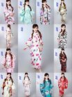 Retro Vintage Women Floral Kimono Coat Jacket Silk Yukata Geisha Bridesmaid Robe
