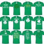 Men's St. Patrick's Day Shamrock Clover Funny Paddy's Irish Unisex T-Shirt Green