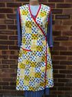 Ladies Yellow Vintage 1940's Style Wrap Over Apron.War time Theatre Tearoom.