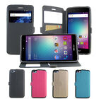 4 Colors Windows PU Stander Card Solt Pu Cover Case For BLU Diamond M