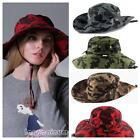 Fisherman Hat Cotton Unisex Men Hiking Outdoor Wide Brim Cap Camouflage Hunting