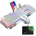 Wired RGB LED Backlit Usb For PS4 Gaming Keyboard Mouse Sets with Knob Contorl