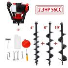 """52CC 2.3HP Gas Power Post Hole Digger One Man Engine 4"""" 6"""" 8"""" 10"""" 12"""" Auger Bits"""