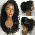 New Virgin Human Hair Full Lace Wigs Deep Curly Lace Front Wigs With Baby Hair