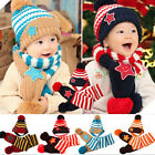Toddler Kid Girl Boy Baby Infant Winter Warm Crochet Knit Hat Beanie Cap Scarves