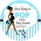 PERSONALISED READY TO POP BABY SHOWER STICKERS LIGHT AND DARK SKIN TONES