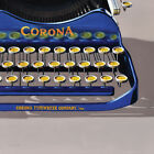 DANFORTH Antique Corona Typewriter stretched canvas giclee print retro painting