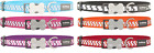 Red Dingo Zig-Zag REFLECTIVE Nylon Dog Collar 6 Colour Choices XS-XL FREE P&P