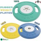 "2"" Olympic Rubber Weight Plates Disc Grip Dumbbell Barbell Fitness Training Gym"