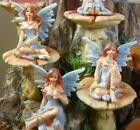 Miniature Fairy Figurine Sitting 5cm - Glitter on wings and dress 12 diff avail