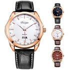 Women Round Dial Simple Faux Leather Band Quartz Casual Wrist Watch Goodish