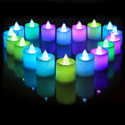6/12/24pcs Colorful Flameless LED Tea Light Candle Tealight Wedding Party Decor
