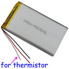 3.7V 8000mAh Polymer Li Battery 3 wires for thermistor For GPS Tablet PC 8065113